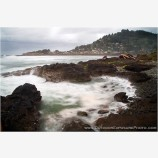 Rocky Beach At Yachats Stock Image, Oregon Coast
