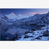 Early Light On Cho Oyu And The Third Gokyo Lake II Stock Image, Mt. Everest, Nepal