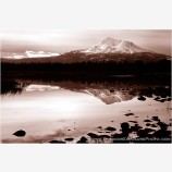 Mt. Shasta Reflecting Pool Stock Image, Mt. Shasta, California