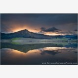 Emigrant Lake Morning Rays Stock Image, Ashland, Oregon