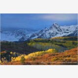 Dallas Divide in Fall Stock Image, San Juan Mountains, Colorado