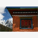 Monastery Window Stock Image, Mt. Everest Region, Nepal