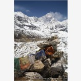 Mt. Everest From Scoundrel's Point Stock Image, Mt. Everest, Nepal