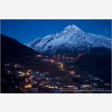 Namche Bazaar At Night Stock Image, Khumbu, Nepal