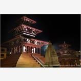 Kathmandu Temples At Night Stock Image, Kathmandu, Nepal