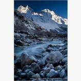 Sun Rising Above The Imja Khola River Print, Imja Khola River, Nepal