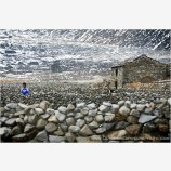 Rock Walls Stock Image, Machermo, Gokyo Valley