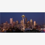 Seattle Skyline Panorama Stock Image, Seattle, Washington