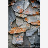 Slate Roof Tiles Stock Image, Mt. Everest Region, Nepal