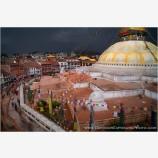 Storm Approaching Boudhanath Stock Image, Kathmandu, Nepal