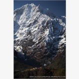 Thamserku Overlooking Tengboche Stock Image, Mt. Everest Region, Nepal