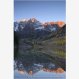 Maroon Bells Sun Break Stock Image, Elk Mountains, Colorado