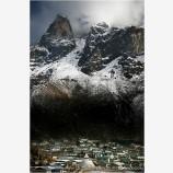 Khumjung Village Stock Image, Khumbu, Nepal