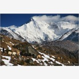 Yak Train Below Cho Oyu Stock Image, Mt. Everest Region, Nepal