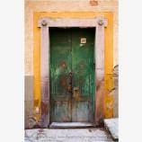Green Door Stock Image, Guanajuato, Mexico