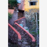 Stair To The Alley Stock Image, Guanajuato, Mexico