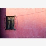 Pink Wall And Single Window Stock Image, Guanajuato, Mexico