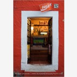 Door Of A Neighborhood Store Stock Image, Guanajuato, Mexico