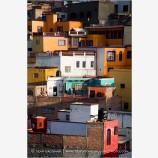Colorful Guanajuato Houses II Stock Image, Guanajuato, Mexico