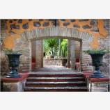 Hacienda Gardens Stock Image, Guanajuato, Mexico