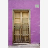 Purple Wall And Door Stock Image, Guanajuato, Mexico