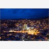 Guanajuato At Night Stock Image, Guanajuato, Mexico