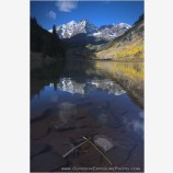 Maroon Bells Reflection II Stock Image, Elk Mountains, Colorado