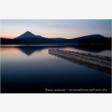 Dock At Lake Of The Woods Stock Image, Klamath County, Oregon