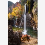 Falls at Hanging Lake Stock Image