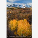 Sneffels Range in Fall Stock Image Southerwestern Colorado