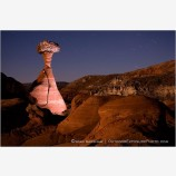 Toadstool Hoodoo at Night Stock Image Vermillion Cliffs, Arizona