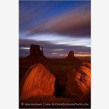 Predawn in Monument Valley Stock Image Navajo Tribal Park, Arizona