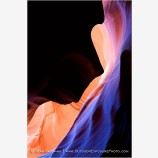 Glowing Sandstone in Antelope Canyon II Stock Image Arizona