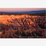 First light on Bryce Canyon Stock Image