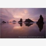 Sea Stacks at Sunset Stock Image Bandon, Oregon