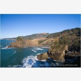Rocky Shoreline Stock Image Oregon Coast