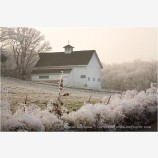 Barn in Frost Stock Image, Rogue Valley, Oregon