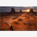 First Light In Monument Valley Stock Image