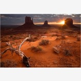 Darkness Bleeds Daylight Print, Monument Valley, Arizona