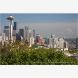 Seattle Skyline Stock Image Washington