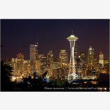 Seattle Skyline 7 Stock Image Washington