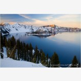 Crater Lake 1 Stock Image, Oregon