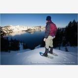 Snowshoeing 1 Stock Image,