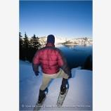 Snowshoeing 2 Stock Image,