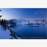 Crater Lake Lookout At Dusk Stock Image, Oregon