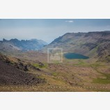 Wildhorse Lake Stock Image, Steens Mountain, Oregon