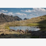 Little Wildhorse Lake Stock Image, Steens Mountain, Oregon