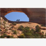 Riders in Wilson Arch Stock Image, Wilson's Arch, Utah