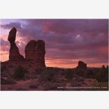 Stormy Morning, Balanced Rock Stock Image, Arches National Park, Utah