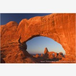 Turret Arch through North Window Stock Image, Arches National Park, Utah